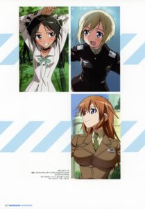 Rating: Safe Score: 4 Tags: charlotte_e_yeager erica_hartmann francesca_lucchini strike_witches takamura_kazuhiro uniform User: Nepcoheart