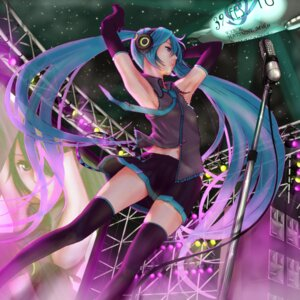 Rating: Safe Score: 41 Tags: aruk hatsune_miku headphones thighhighs vocaloid User: blooregardo