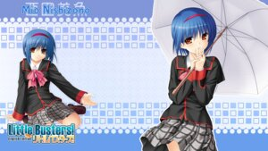 Rating: Safe Score: 9 Tags: key little_busters! na-ga nishizono_mio seifuku skirt_lift umbrella wallpaper User: marechal