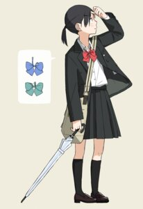 Rating: Safe Score: 11 Tags: kumanoi_(nichols) seifuku umbrella User: Radioactive
