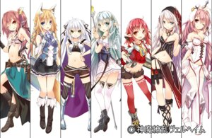 Rating: Safe Score: 106 Tags: animal_ears armor bunny_ears cleavage elf garter gun kitsune pointy_ears saeki_thoma shinma_ryouran_welheim stockings sword tail thighhighs weapon User: fairyren