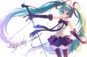 Rating: Safe Score: 9 Tags: hatsune_miku silverwing thighhighs vocaloid User: fireattack