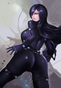 Rating: Questionable Score: 52 Tags: ass bodysuit dantewontdie gantz gun shimohira_reika User: NotRadioactiveHonest