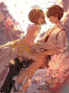 Rating: Safe Score: 44 Tags: card_captor_sakura dress heels kinomoto_sakura li_syaoran wings yukuso_(1065762559) User: Mr_GT