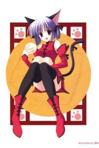 Rating: Safe Score: 9 Tags: animal_ears nanao_naru nekomimi tail thighhighs User: ledzep4zoso