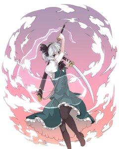Rating: Safe Score: 17 Tags: hitsuji_(hanatoutau) konpaku_youmu sword touhou User: itsu-chan
