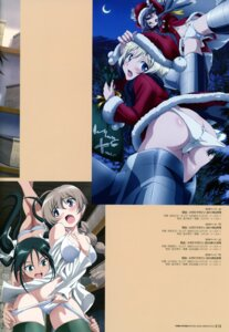 Rating: Questionable Score: 12 Tags: animal_ears ass christmas erica_hartmann francesca_lucchini gertrud_barkhorn lynette_bishop pantsu strike_witches tail tamura_masafumi undressing User: Nepcoheart