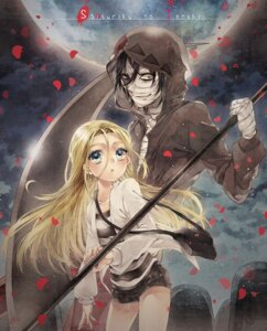 Rating: Safe Score: 11 Tags: bandages denko isaac_foster rachel_gardner satsuriku_no_tenshi weapon User: charunetra