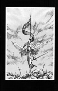 Rating: Safe Score: 4 Tags: claymore dress monochrome sword wings yagi_norihiro User: Radioactive