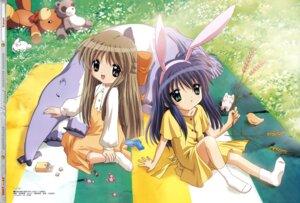 Rating: Safe Score: 17 Tags: animal_ears bunny_ears dress ikeda_kazumi kanon kawasumi_mai kurata_sayuri User: strawberryheaven