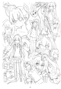 Rating: Safe Score: 2 Tags: aisaka_taiga expression monochrome sato satosute sketch toradora! User: Radioactive