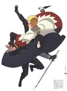 Rating: Safe Score: 9 Tags: bandages male naruto nishio_tetsuya sword uchiha_sasuke uzumaki_naruto weapon User: Radioactive