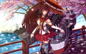 Rating: Questionable Score: 40 Tags: bakanoe kantai_collection thighhighs umbrella yamato_(kancolle) User: sylver650