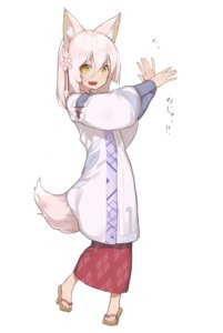 Rating: Safe Score: 25 Tags: animal_ears hitoshi_(pixiv3340857) japanese_clothes tail User: nphuongsun93