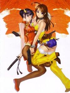 Rating: Safe Score: 28 Tags: bakuretsu_tenshi chinadress gun hakua_ugetsu megumi sword User: Eruru