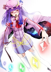 Rating: Safe Score: 14 Tags: megane patchouli_knowledge reio_reio stockings thighhighs touhou User: Radioactive