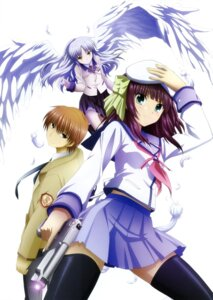 Rating: Safe Score: 31 Tags: angel_beats! gun otonashi seifuku tenshi thighhighs wings yurippe User: Ravenblitz