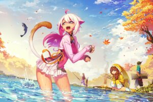 Rating: Safe Score: 25 Tags: animal_ears luode_huayuan tail wet User: Mr_GT