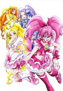 Rating: Safe Score: 9 Tags: dress heels houjou_hibiki kamikita_futago kurokawa_ellen minamino_kanade pretty_cure shirabe_ako suite_pretty_cure thighhighs User: drop