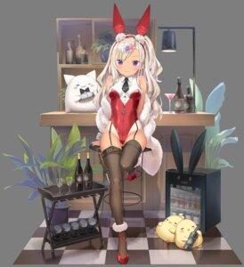 Rating: Questionable Score: 34 Tags: animal_ears archerfish_(azur_lane) azur_lane bunny_ears bunny_girl heels manjuu_(azur_lane) peco stockings tan_lines thighhighs transparent_png User: Arsy