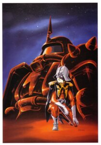 Rating: Safe Score: 2 Tags: char_aznable gundam mecha mobile_suit_gundam ms-06_zaku_ii okawara_kunio User: Radioactive