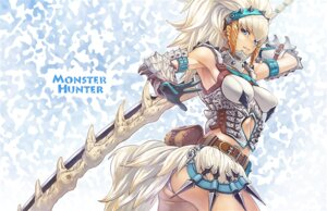 Rating: Questionable Score: 41 Tags: armor ass barioth guchico monster_hunter pantsu sword User: cattypkung
