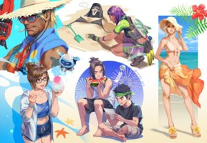 Rating: Safe Score: 7 Tags: cleavage gun megane open_shirt overwatch sae_(revirth) swimsuits tagme tattoo User: Radioactive