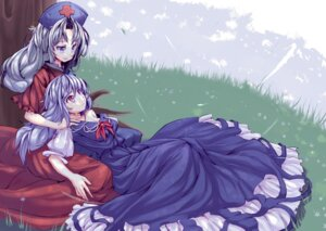 Rating: Safe Score: 11 Tags: dress hirasato kamishirasawa_keine touhou ukyo_rst yagokoro_eirin User: yumichi-sama