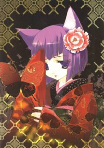 Rating: Safe Score: 8 Tags: animal_ears kimono minato_hiromu nekomimi scanning_artifacts User: cheese
