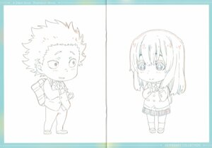 Rating: Safe Score: 8 Tags: chibi crease fixme koe_no_katachi line_art raw_scan seifuku sweater User: yswysc