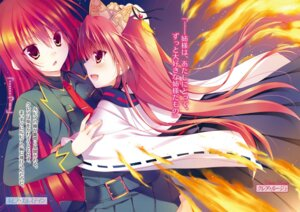Rating: Safe Score: 21 Tags: claire_rouge rubbia_elstein sakura_hanpen seirei_tsukai_no_blade_dance User: h71337