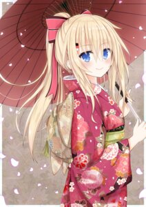 Rating: Safe Score: 79 Tags: bismarck_(kancolle) kantai_collection kimono umbrella yamiarisu User: Mr_GT