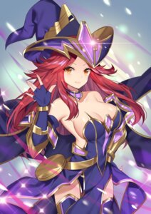 Rating: Questionable Score: 27 Tags: armor cleavage kikistark no_bra thighhighs witch User: sym455