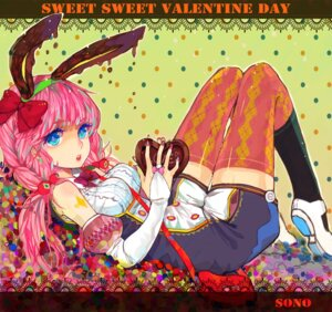 Rating: Safe Score: 23 Tags: animal_ears bunny_ears sono thighhighs valentine User: Nekotsúh