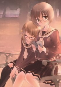 Rating: Safe Score: 8 Tags: hashimo_kikuri megane seifuku thighhighs User: Radioactive