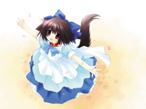 Rating: Safe Score: 10 Tags: animal_ears dress inumimi sakurazawa_izumi tail wallpaper User: Radioactive