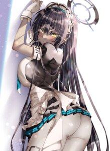 Rating: Questionable Score: 35 Tags: ass blue_archive kamiya_maneki karin_(blue_archive) maid pantyhose skirt_lift User: BattlequeenYume