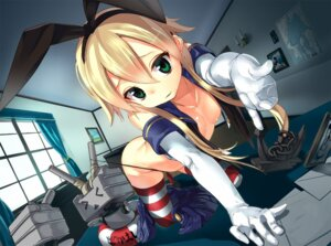 Rating: Questionable Score: 89 Tags: kantai_collection loli no_bra open_shirt pantsu rensouhou-chan shimakaze_(kancolle) thighhighs thong wardrobe_malfunction yamacchi User: Mr_GT
