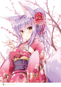 Rating: Questionable Score: 23 Tags: animal_ears kimono kitsune tail tateha User: Radioactive