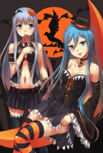 Rating: Questionable Score: 31 Tags: aoki_hagane_no_arpeggio bra cleavage fixed halloween iona nanjyolno open_shirt skirt_lift takao_(aoki_hagane_no_arpeggio) thighhighs User: Mr_GT
