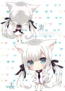 Rating: Safe Score: 20 Tags: animal_ears chibi dress hoshi inumimi summer_dress tail User: kiyoe