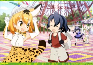 Rating: Safe Score: 21 Tags: animal_ears common_raccoon fennec isa_yoshihisa kaban_(kemono_friends) kemono_friends pantyhose serval tail tatsuki_(artist) thighhighs User: drop