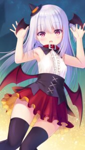 Rating: Safe Score: 24 Tags: halloween na-ga tagme thighhighs wings User: edogawaconan
