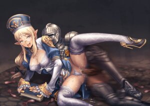Rating: Explicit Score: 23 Tags: armor censored cleavage cum heels megane pantsu panty_pull pointy_ears sex tagme thighhighs User: Mr_GT