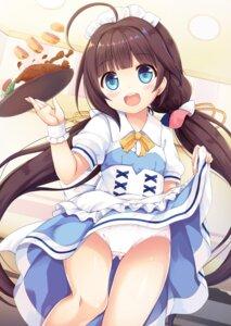 Rating: Questionable Score: 56 Tags: hinatsuru_ai loli maid pantsu ryuuou_no_oshigoto! sakuraba_hikaru skirt_lift waitress User: RyuZU