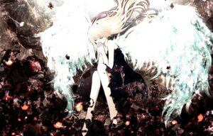 Rating: Safe Score: 29 Tags: aonoe dress megurine_luka vocaloid wings User: charunetra