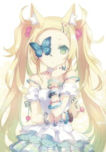 Rating: Safe Score: 50 Tags: animal_ears detexted dress h2so4 island_of_horizon jpeg_fix User: ls26784
