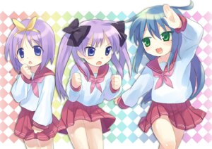 Rating: Safe Score: 4 Tags: hiiragi_kagami hiiragi_tsukasa izumi_konata lucky_star seifuku tagme User: konstargirl
