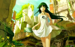 Rating: Safe Score: 70 Tags: dress g_scream saya saya_no_uta summer_dress wallpaper User: Radioactive