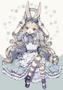 Rating: Questionable Score: 13 Tags: animal_ears bloomers bunny_ears gothic_lolita heels lolita_fashion nagiromi pantyhose skirt_lift User: whitespace1